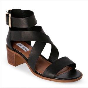 Steve Madden Raleen Block Heel Sandal Black 5.5M